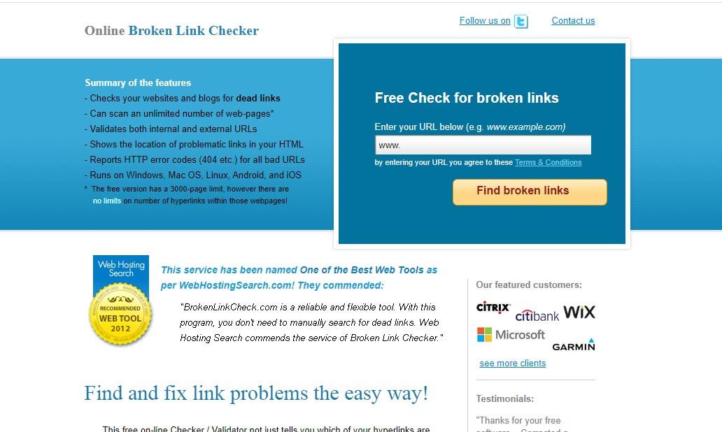 معرفی ابزار Free Broken Link Checker