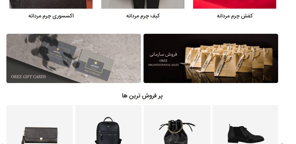 طراحی سایت برای شرکتهای چرمی